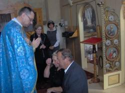 błogosławieństwo po przyjęciu Karty.jpg - Prijatie Charty 1.10.2011
