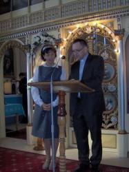 ks. Marek wygłasza konferencję o życiu ks. Caffarela.jpg - Prijatie Charty 1.10.2011