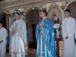 podczas Eucharystii.jpg - Prijatie Charty 1.10.2011